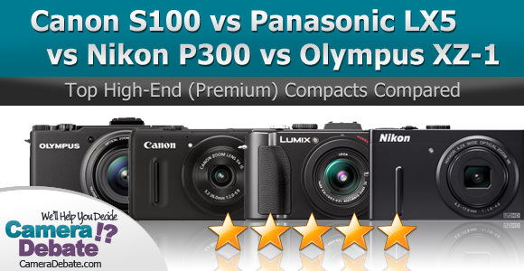 High end compact digital cameras side by side