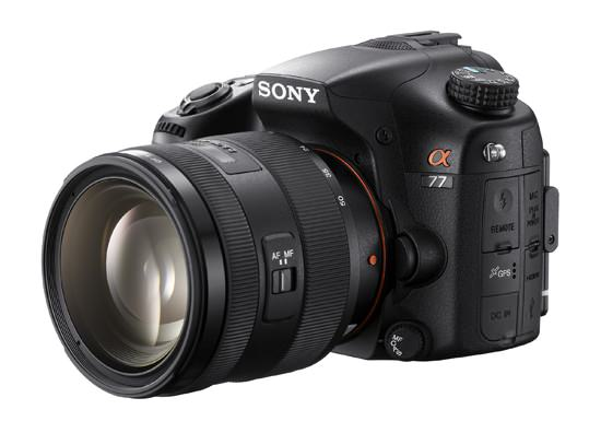Sony 16-50 mm F2.8 lens mounted on A77
