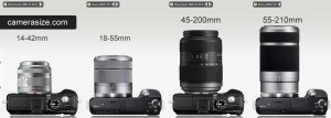 Sony, Olympus camera and lens comparison