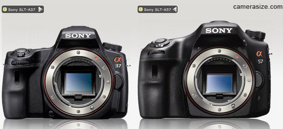 Sony A37 and A57 size comparison