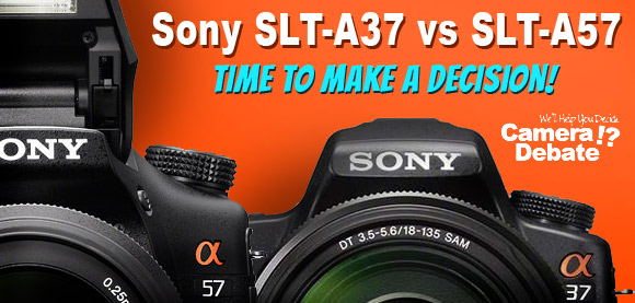 Sony SLT-A37 and A57 SLR cameras