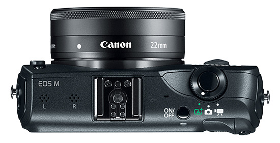 Canon EOS M, top view