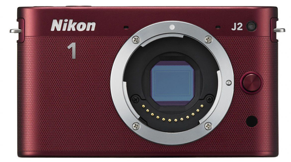 Nikon J2 MILC in Red