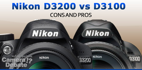 Nikon D3200 and D3100 digital SLR cameras