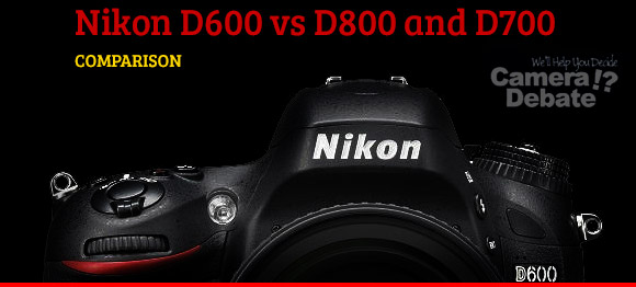Nikon D600 camera on a black background