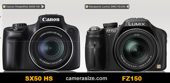 Canon PowerShot SX50 HS vs Panasonic Lumix DMC-FZ150