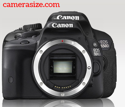 Canon Rebel SL1 vs T4i size comparison