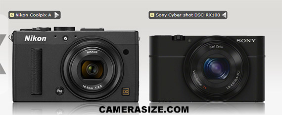 Sony RX100 vs Nikon Coolpix A - size comparison