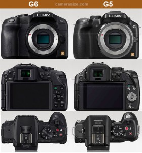 Panasonic G6 and G5 cameras side by side