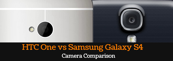 HTC One camera and Samsung Galaxy S4 camera