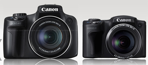 Canon Sx50 HS and SX5000 IS side by side