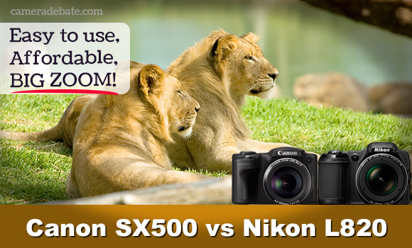 Canon PowerShot SX500 IS vs Nikon Coolpix L820