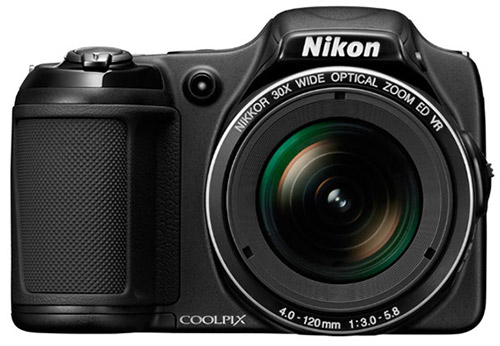 Nikon Coolpix L820 superzoom camera, front
