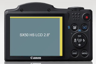 2.8 inch LCD vs 3 inch, SX500 IS