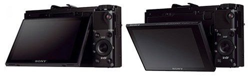Sony RX100 2 tilting display