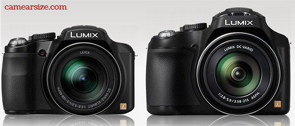 Panasonic Lumix DMC-FZ70 vs FZ60 size comparison
