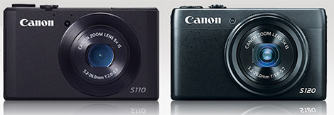 Canon PowerShot S120 and S110