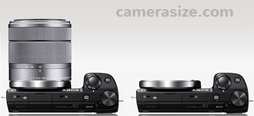 Sony NEX-5T with 18-55mm lens and without (body only)