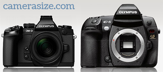 Olympus OM-D E-M1 and OM-D E-M5 side by side comparison