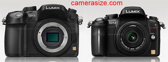 Size Comparison: Panasonic Lumix GH3 vs Lumix GH2