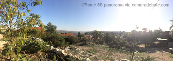 iPhone 5S panorama photo
