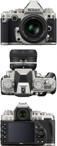Nikon Df top, front and rear images