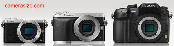 Panasonic Lumix GX7 size comparison