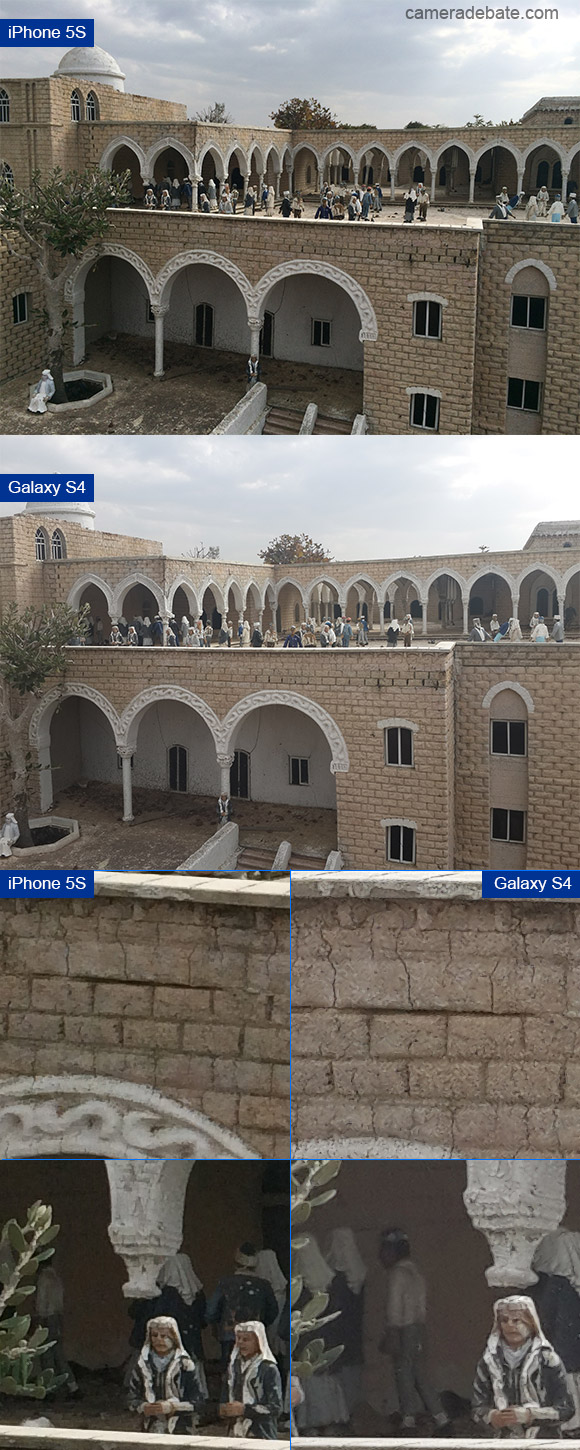 iPhone 5S and Samsung Galaxy S4 sample image side by side comparison