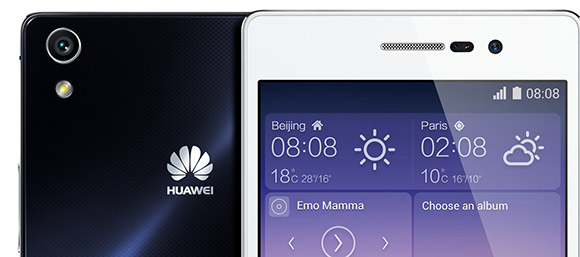 Huawei Ascend P7 rear-facing and front-facing cameras