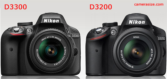 Nikon D3300 vs D3200 side by side