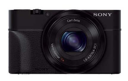 Sony RX100 with the official Sony hand grip