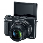 Canon G1 X Mark II tilting display rotated 180 degrees