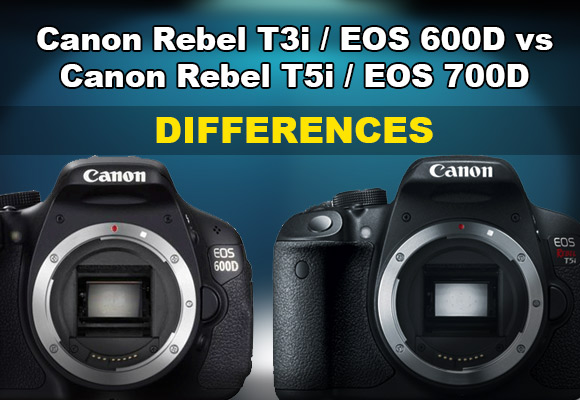 Canon Rebel T5i vs T3i side by side