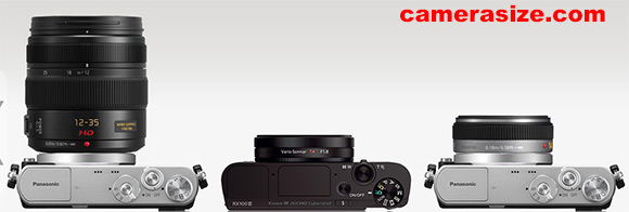Panasonic GM1 with lenses attached vs Sony RX100 III size comparison