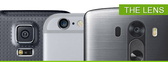 camera lenses: iphone 6 plus, galaxy s5 and lg g3