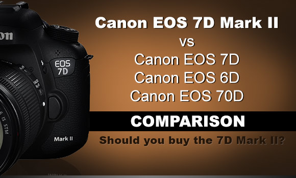 Canon 7D Mark II camera on brown background