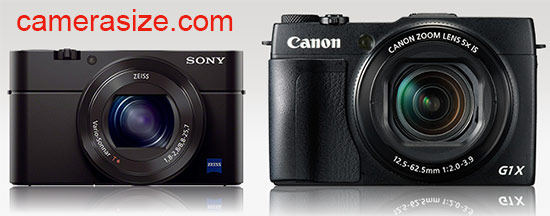 Canon G1 X Mark II vs Sony RX100 III