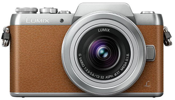 Panasonic Lumix GF7 in brown