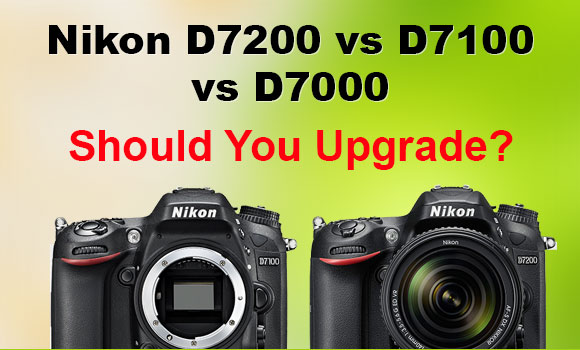 Nikon D7200 and D7100 side by side