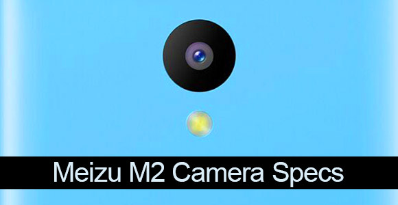 Meizu M2 blue version rear camera