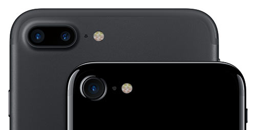 iPhone 7 and iPhone 7 Plus rear cameras